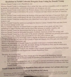 CO GOP resolution
